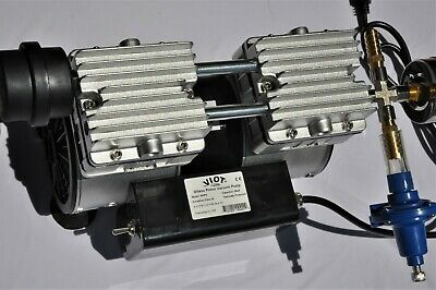 Twin Piston Oil-less Vacuum Pump 5.5cfm Cowgoat Milkerpulsator Hookup Switch