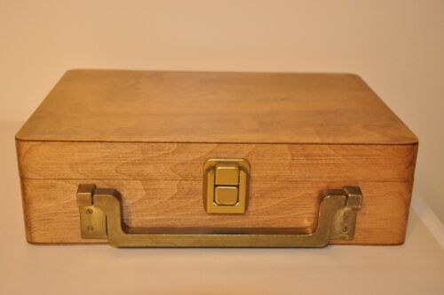 Wood Book Box With Handle And Latch