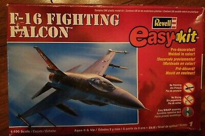 NEW SEALED 2005 REVELL F-16 FIGHTING FALCON EASY KIT 1:100 SCALE -FREE SHIP- Falcon Easy Kit