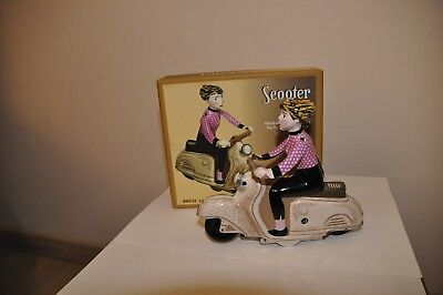 TIN TOY SCOOTER GIRL WIND-UP for sale  Shipping to South Africa