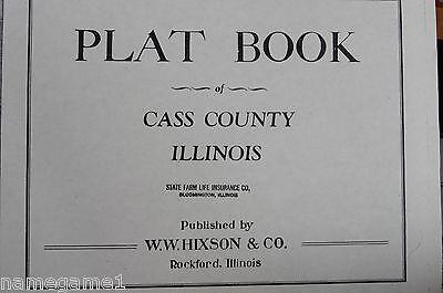 GENEALOGY ILLINOIS PLAT MAP CASS COUNTY CA 1918-1946 (2 books)