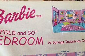 "Barbie ""Fold/Go"" bedroom sewing panel"