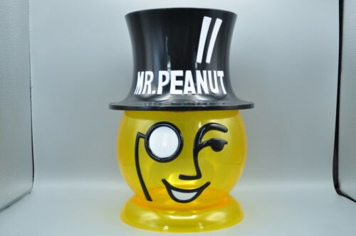 Vintage Planters Yellow  Mr Peanut Head Large Counter Display Container RARE