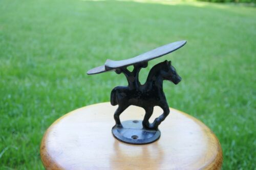 Antique CAST IRON HORSE Figural SHOE SHINE Foot Rest