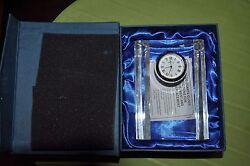 Brand NEW Badash Clock H4.5X3.5 inch Crystal Half Moon Handmade
