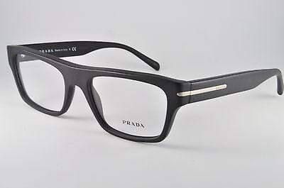 Prada Eyeglasses VPR 18R 1BO-1O1 Matte Black, Size 53-18-140