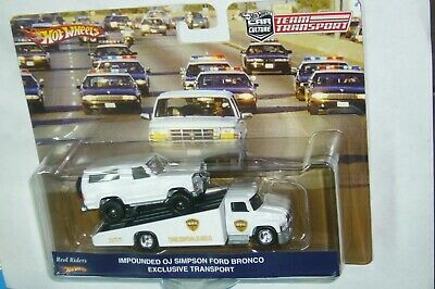 HOT WHEELS TEAM TRANSPORT 2021 IMPOUNDED OJ SIMPSON BRONCO CARRY ON RIG LIMITED