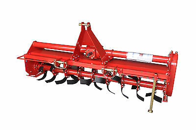 48 Rotary Tiller Pto Rototiller 3 Point Mount - 4ft