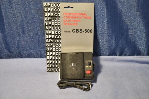 Speco CBS-500 CB/HAM Communications Extension Speaker 3.5mm plug + Noise Filter