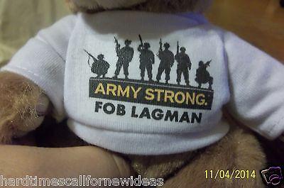 Army Strong FOB Lagman Bear Plush With Shirt