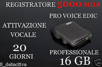 MICRO REGISTRATORE VOCALE 16GB SPY  SPIA AMBIENTALE USB MICROSPIA