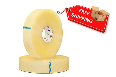 6 Rolls Carton Sealing Clear Packing/Shipping/Box Tape- 2 Mil- 2