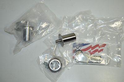 Medeco Plunger Lock 5 Pin Sliding Door Cabinet Lot 2 W Key  62w61557t-26-pa