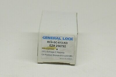 General Lock Rim Cylinder Rc6-sc-613-kd Bronze Schlage C Keyway