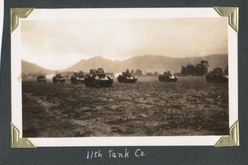 1940 US Army Schofield Barracks Review Hawaii photo Tanks of the 11th Tank Co.