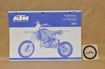 2001 KTM 65 SX Chassis Engine Motor Spare Parts List Diagram Manual