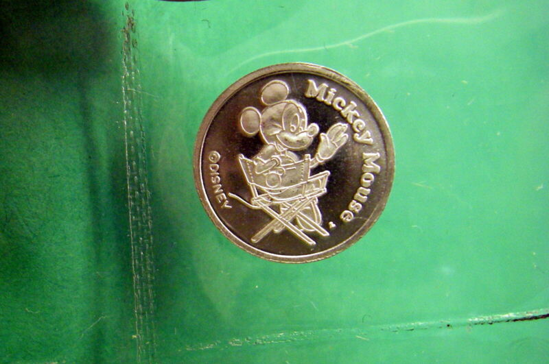 Mickey Mouse, Walt Disney.999 Pure 1/20 oz Silver Coin, Director, Sealed in Flip