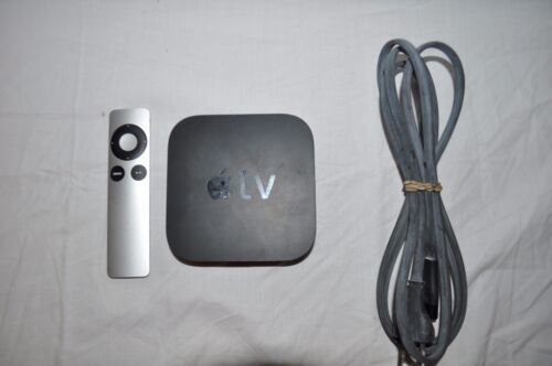 Apple TV 2nd Generation (A1378) With Remote Power Cord  -sb