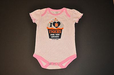 NWOT Detroit Tigers Girls Infant Toddler Bodysuit Onesie Baby Romper Gerber - Girls Tiger Onesie