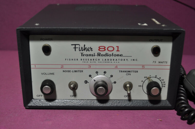 Vintage Fisher Transi-Radiofone Model F801with Microphone in a good condition