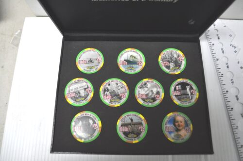 Limited  Tropicana Las Vegas collectable casino chip set in case - uncirculated
