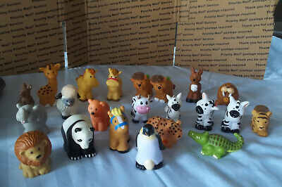 Fisher Price Little People Mixed Lot Of  22 Animals Zoo Farm SAFARI & MORE