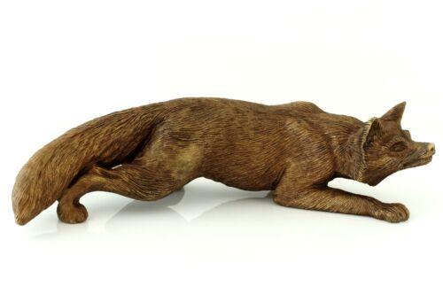"Fox while Hunting Bronze Statue Figurine Russian Art Animal Sculpture 7 1/4"""