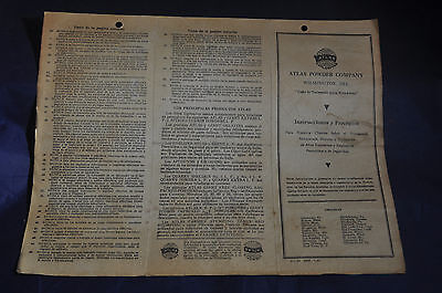 1944 Atlas Explosives Powder Company Brochure Instructions and Rules (Spanish)