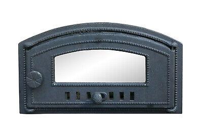 Cast Iron Fire Foor Clay Bread Oven Doors Pizza Stove (19.05x10.82inch)