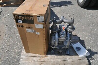 Dayton 22a598 1-12 Cast Iron Air Double Diaphragm Pump 107 Gpm 212f New