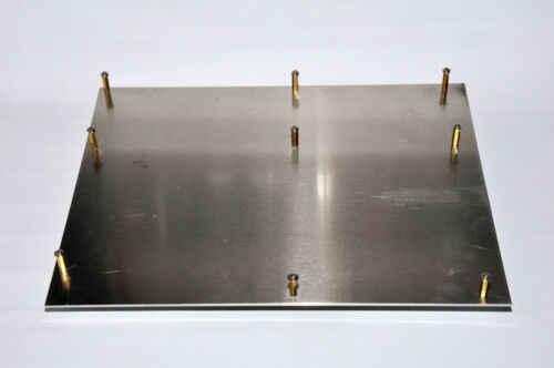"""ATX Aluminum Motherboard Tray w/ standoffs 12""""x9.5""""x0.090"""""""