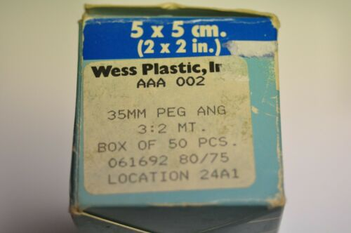 Wess Plastic 35mm plastic mounts with glass. 061692 80/75. Qty. 49