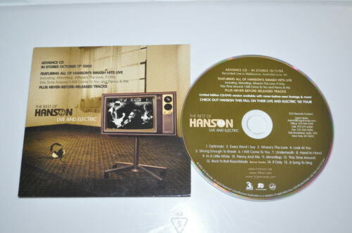 RARE Hanson Live and Electric Full Length US Promo CD!