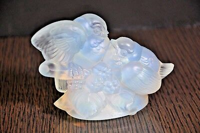 SABINO Cluster of Two Love-Birds  Opalescent  Crystal   for sale  Marina del Rey