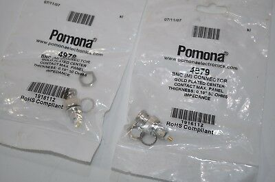 Lot Of 2 New Pomona Bnc M Connectors With Gold Plated Centers Model 4979