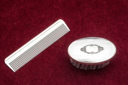 #2197 Boys Sterling Silver Brush & Comb Set by Empire -NIB