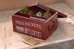 Burgon and Ball Garden Seed Packets Organiser Tin - Great Garden Gift Idea