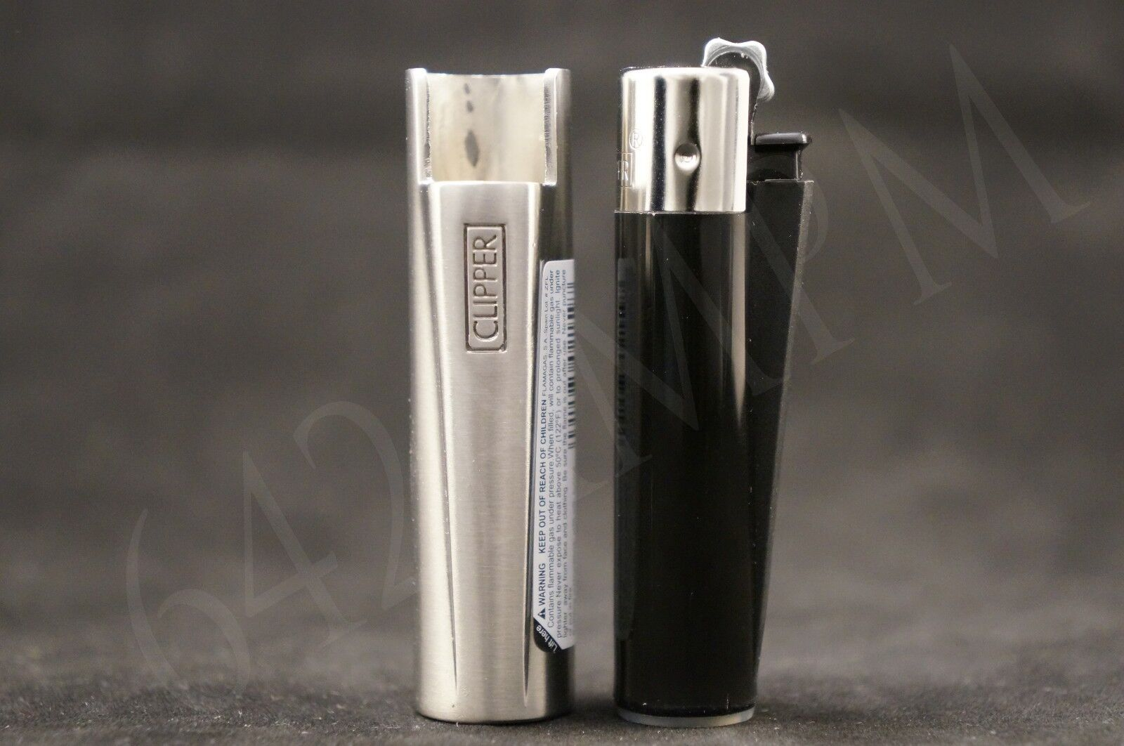 1 New Refillable Butane Clipper Mini Size Lighter With Metallic Removable Cover
