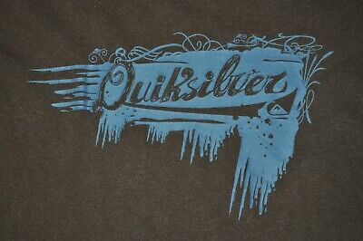 t-shirt medium quicksilver skateboard snowboard 20.5 inches pit to pit