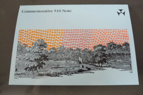 1988 Australia Bicentenary Folder Commerorative Ten Dollars $10 Note