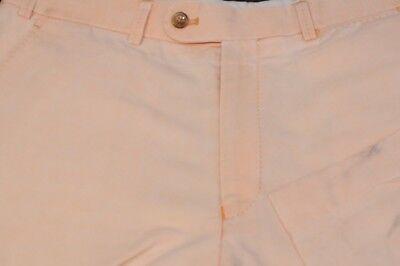Hiltl Men's Light Beige Linen & Cotton Luxury Flat Front Casual Pants 34 x 32