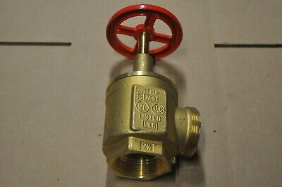 Giacomini A56y005 Brass Fire Hose Valve 2-12 Nst X 2-12 Npt Fm