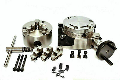 Rotary Table 4100mm With 100mm 3 Jaw Self Centering Chuck M6 Clamping Kit