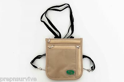 TRAVEL SECURELY ANTI-THEFT WIRE RE-ENFORCED NECK/SIDE MONEY BAG, PHONE, ETC. #4