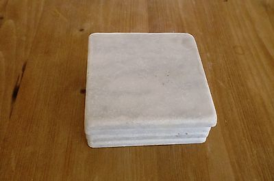 Marble Coasters – White Carrara Marble Stone Coasters with Cork Backing Set of 6