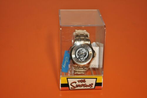 "The SIMPSONS - DISNEY ""SILVER HOMER WRISTWATCH""= BRAND NEW = 2007"