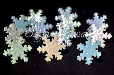 12 PCS Disney Frozen Snowflake Cupcake Cake Decorating Supplies Topper Rings -