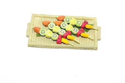 Dollhouse Miniature LUAU TIKI FRUIT KABOB PLATTER American Girl AG Mini - Luau Fruit Kabobs