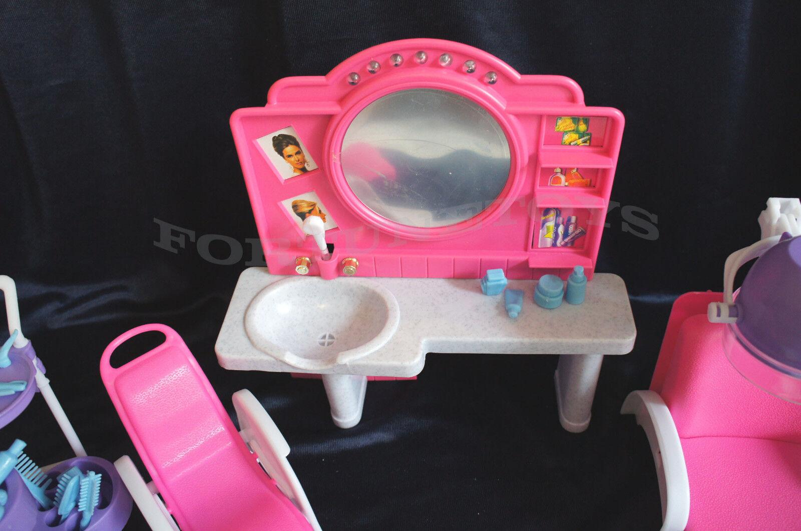 NEW Fancy Life DOLLHOUSE FURNITURE Beauty Salon PLAYSET (96009)