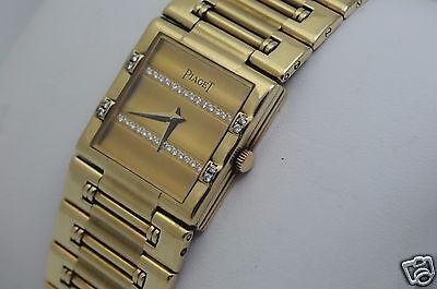 Piaget Dancer 18K with 36 factory diamonds and bracelet Ref 80327K81, box, mint